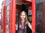 In a British phone booth