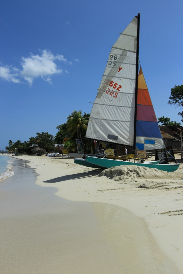 Sailboat Along the Jamaican Shore
