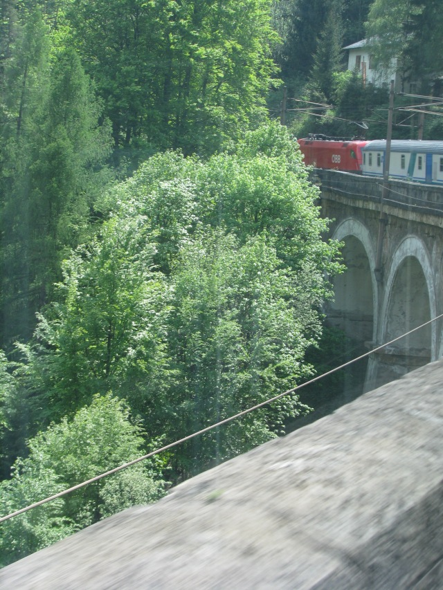 Train Along European Countryside